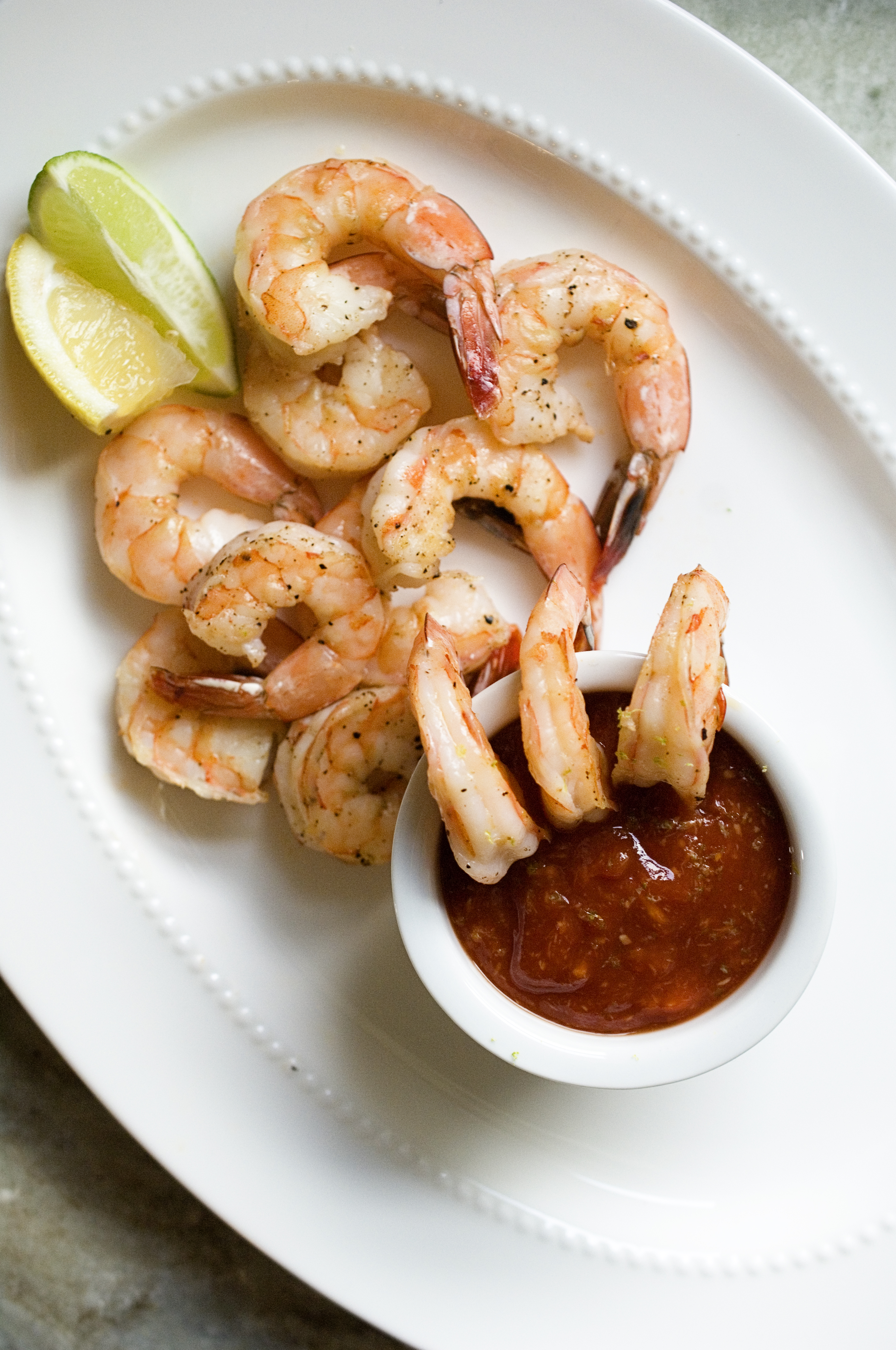 Roasted Shrimp Cocktail With Sriracha Lime Dipping Sauce 5 Easy