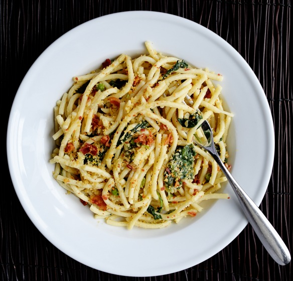 America S Test Kitchen S Bucatini With Peas Kale And